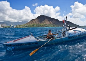 Roz arriving in Hawaii after Stage 1 of the Pacific row